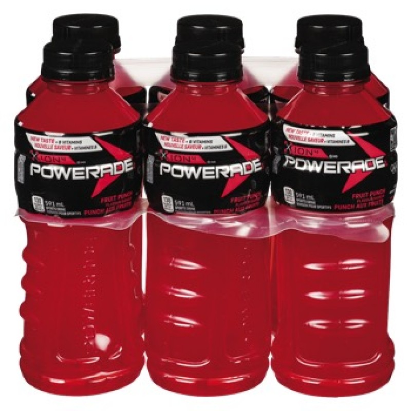 Powerade Fruit Punch Sports Drink 6 Pack /591 mL