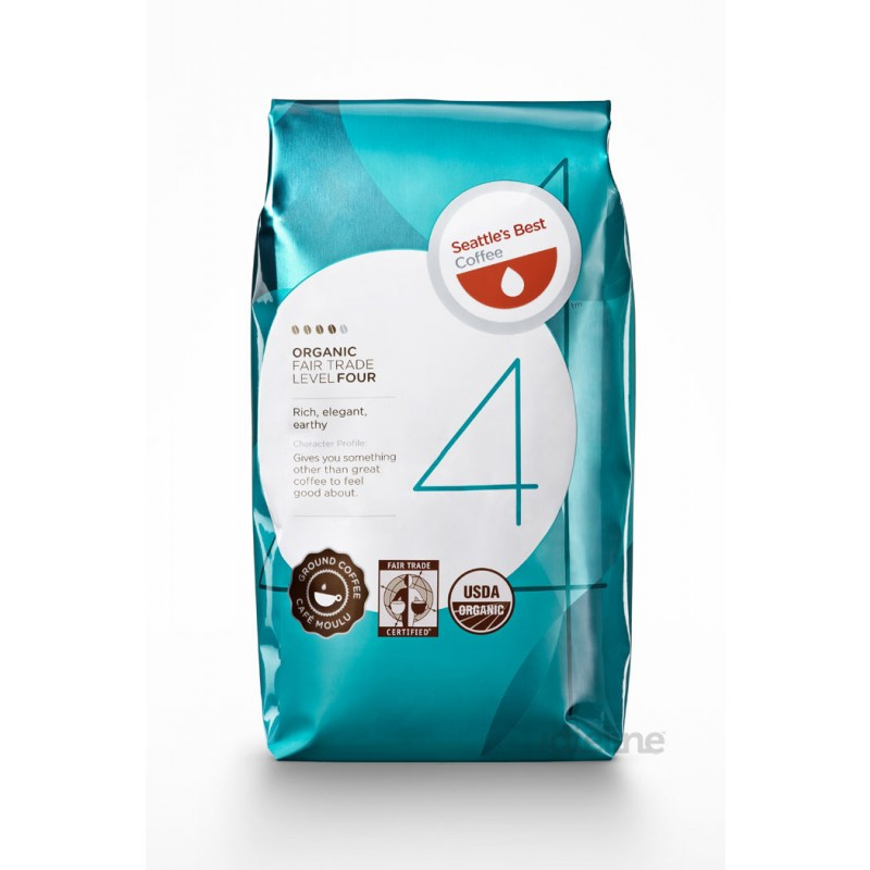Seattle's Best Coffee Level 4 Organic Fair Trade Coffee 42/2 oz
