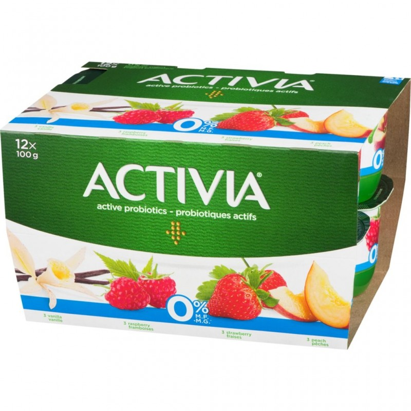 Danone Activia Yogurt - 24 Pack/100 Grams