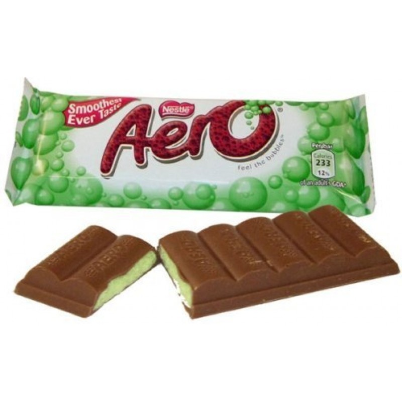Nestle Aero  Peppermint Bubbles Chocolate Candy Bars - 24 Pack / 41 Grams
