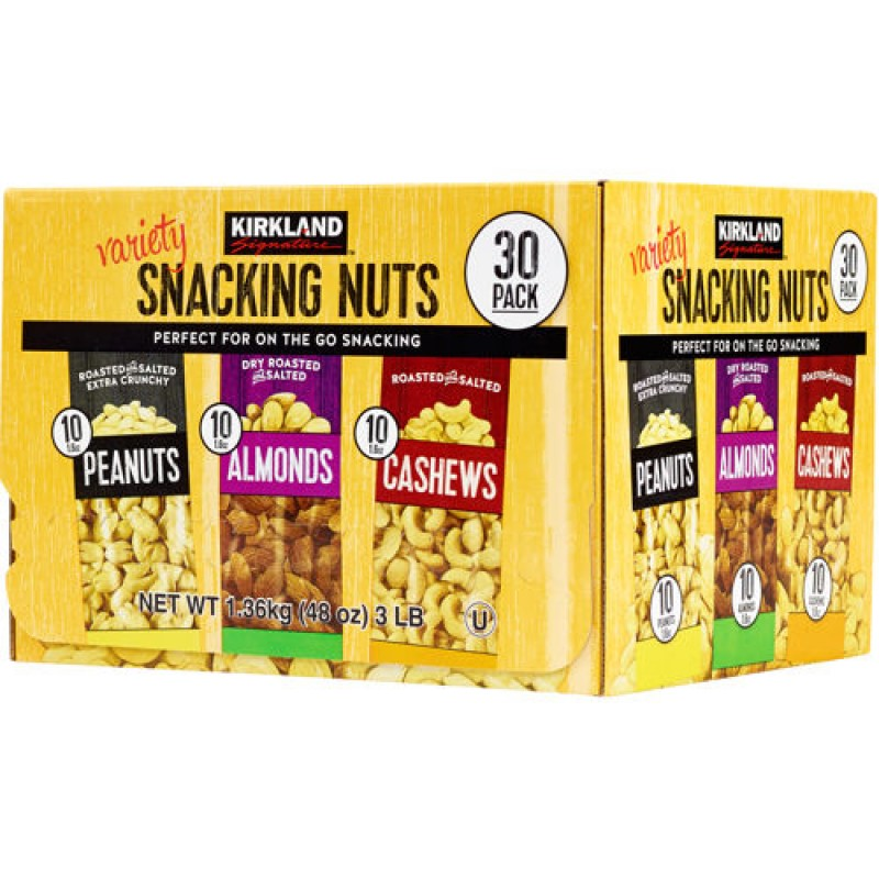 Kirkland Signature Variety Snacking Nuts 30/45g