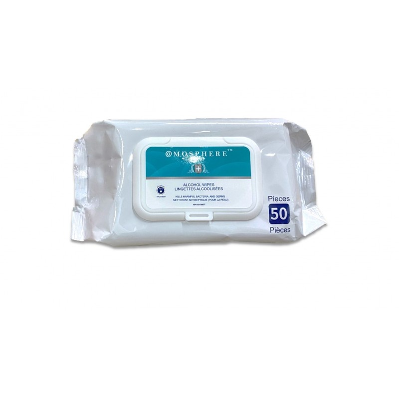 Atmosphere 75% Alcohol Wipes 50 Sheets/Pack