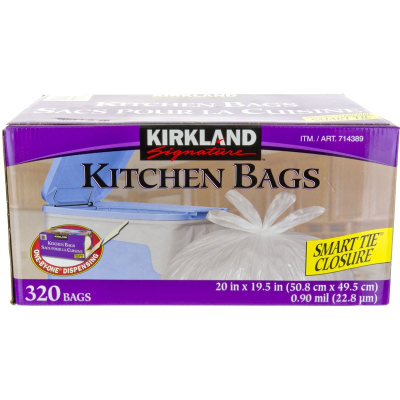 Kirkland Signature Drawstring Kitchen Trash Bags - 13 Gallon - Count this product has the following all along with it which has the Kirkland Signature. The Kirkland Signature Trash Bag .