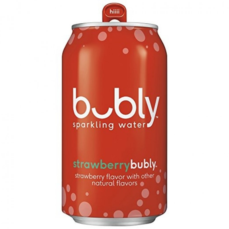 Bubly Sparkling Water, Strawberry, 12/355 mL