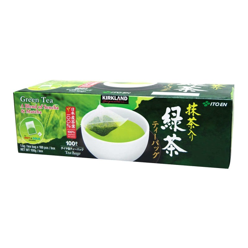 Kirkland Signature Japanese Green Tea - Sencha & Matcha Blend - 100/Pack