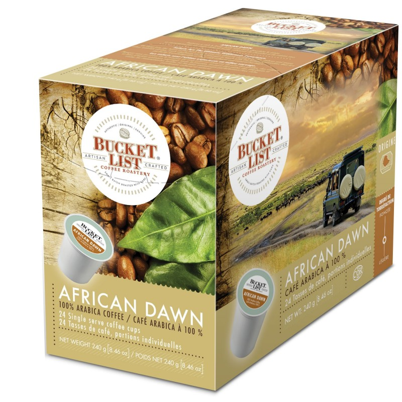 Bucket List Coffee Roastery African Dawn K-Cups - 24/Box