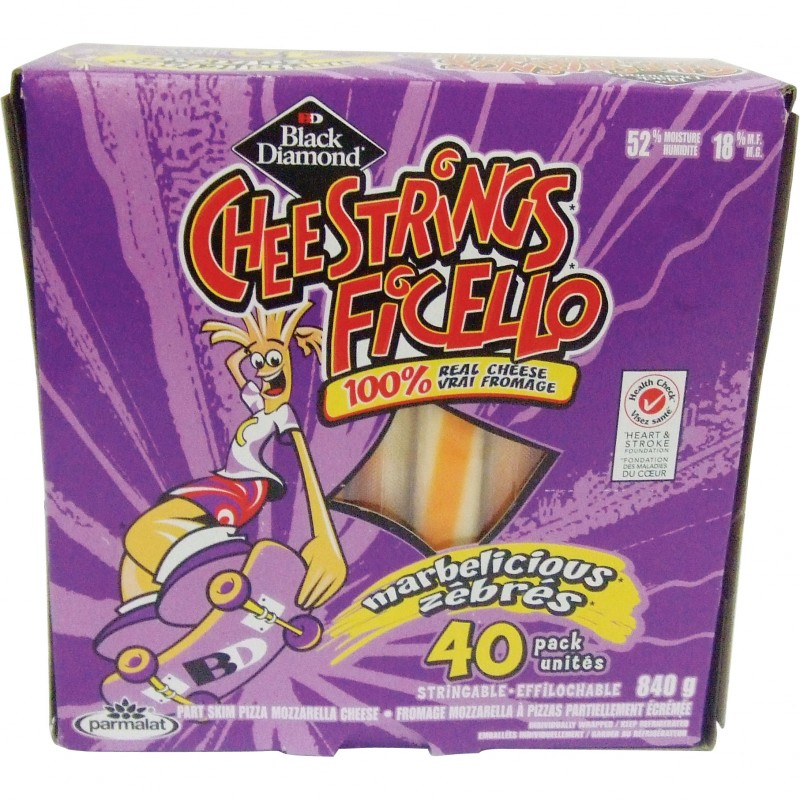 Black Diamond CheeStrings Marble Cheese Portions