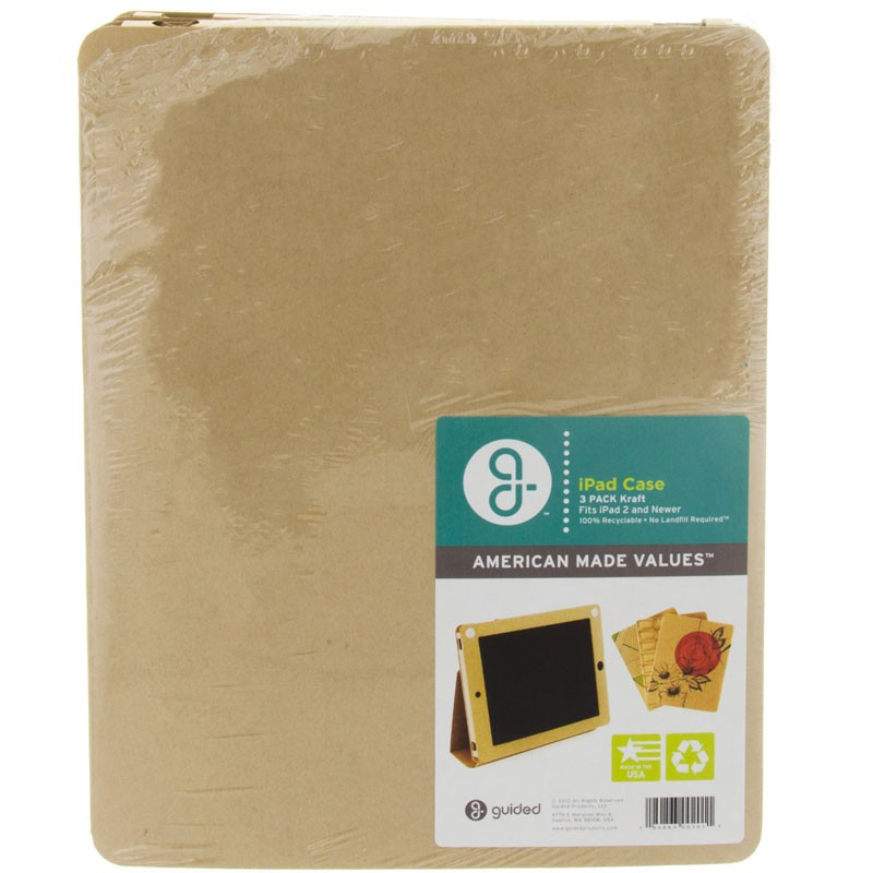 Guided Products Cardboard iPad 2 Cases - Kraft - 3pk