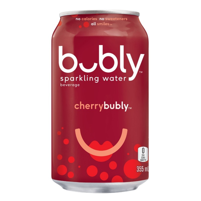 Bubly Sparkling Water - Cherry - 12 Cans/355 mL