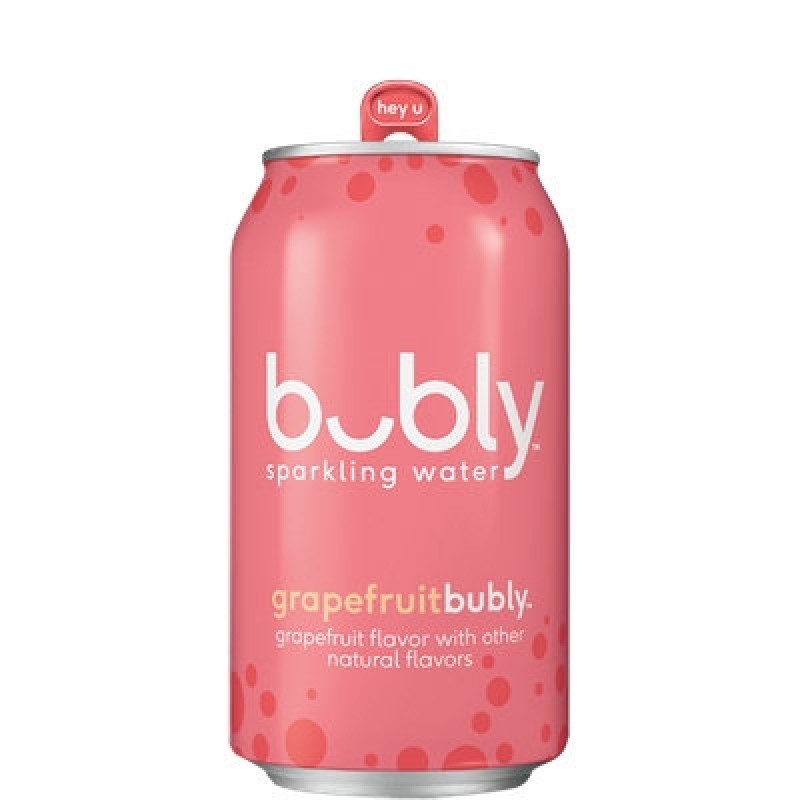 Bubly Sparkling Water, Grapefruit, 12 Cans/355 mL