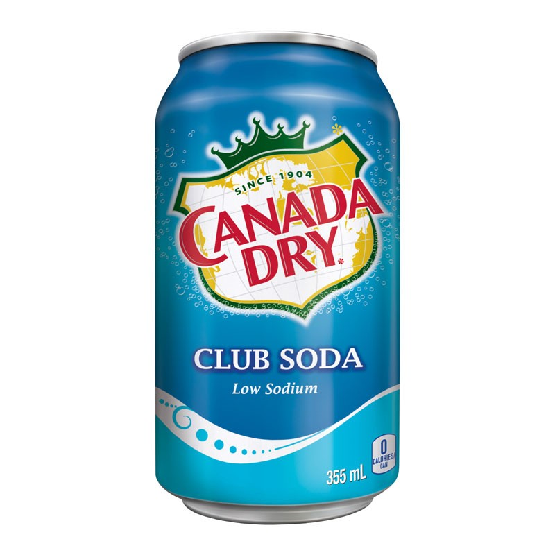 Canada Dry Club Soda Water 12/355mL