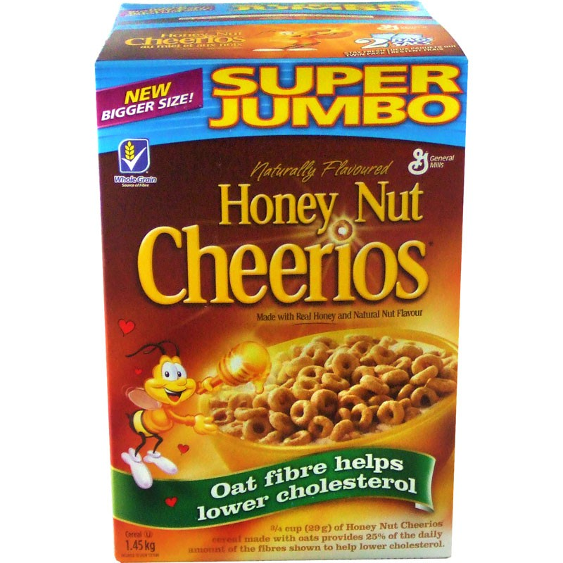 Honey Nut Cheerios Cereal - Super Jumbo - 1.5 kg