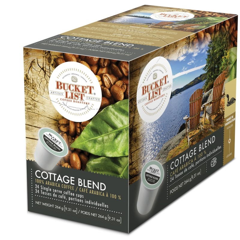 Bucket List Coffee Roastery Cottage Blend K-Cups - 24/Box