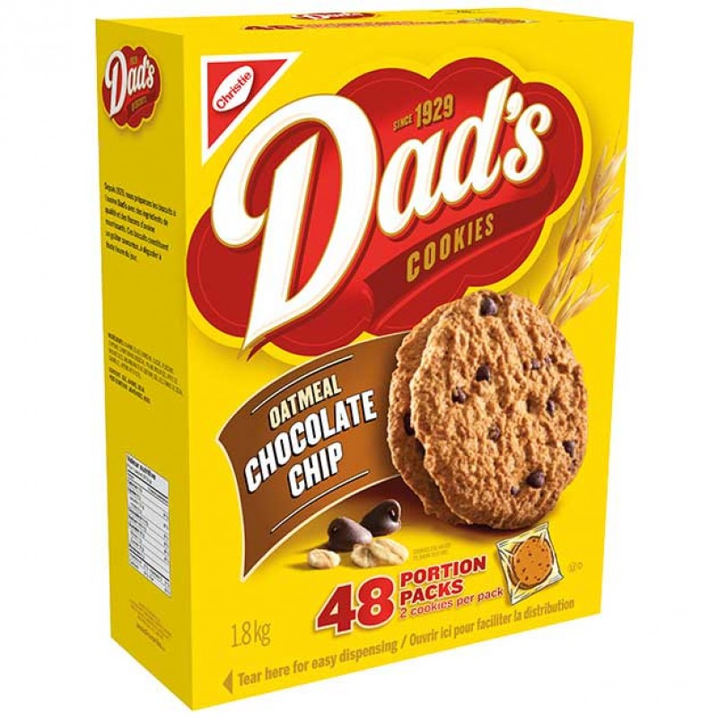 Dad's Cookies Oatmeal Chocolate Chip - 48/Pack