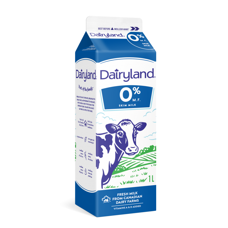 Dairyland Fat Free Skim Milk - 1 Litre Carton