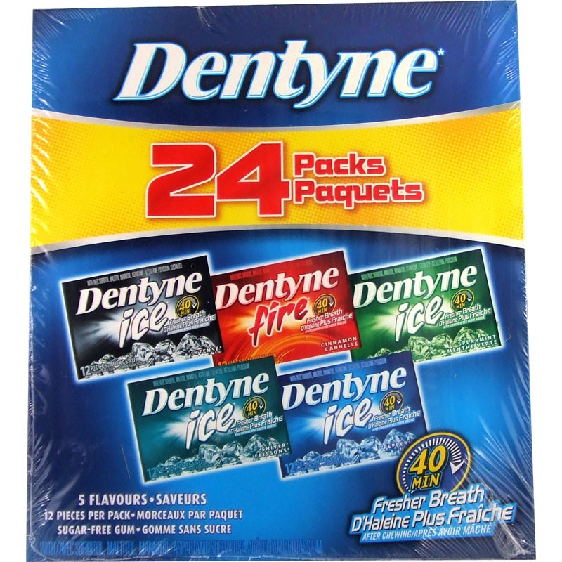 Dentyne Pantry Pack Gum - Assorted - 24pk