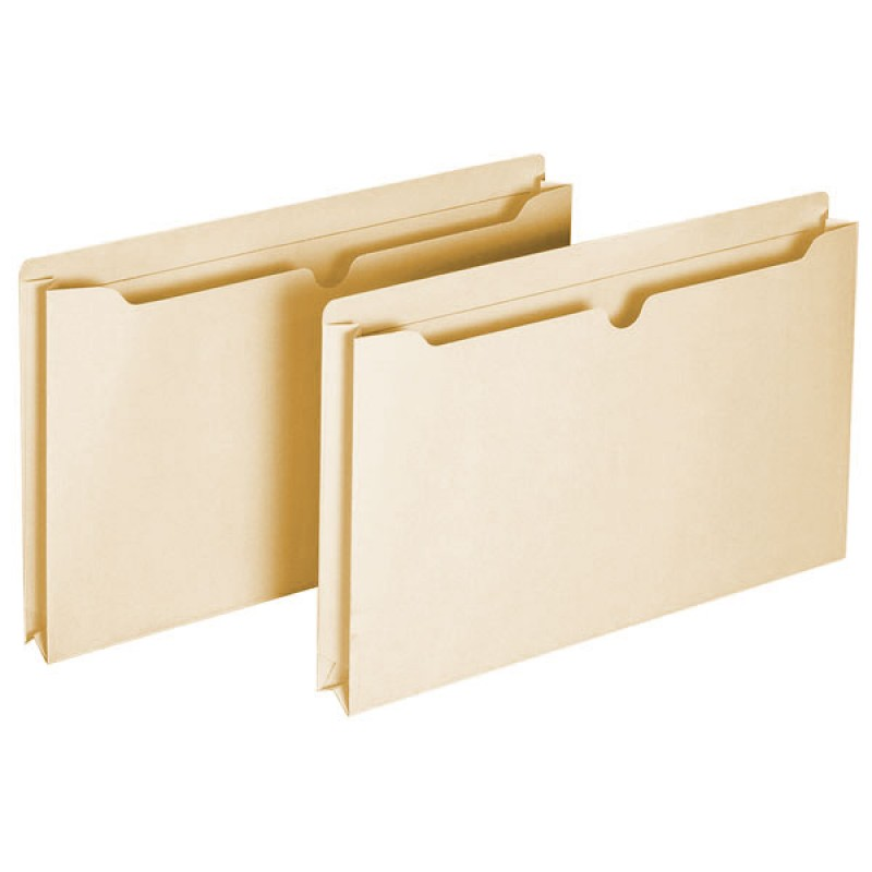 Globe-Weis Recycled Manila File Jackets -  2 Inch - Legal - 12pk