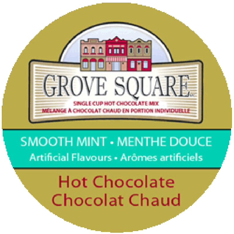 Grove Square Smooth Mint Hot Chocolate K-Cup 24 pk