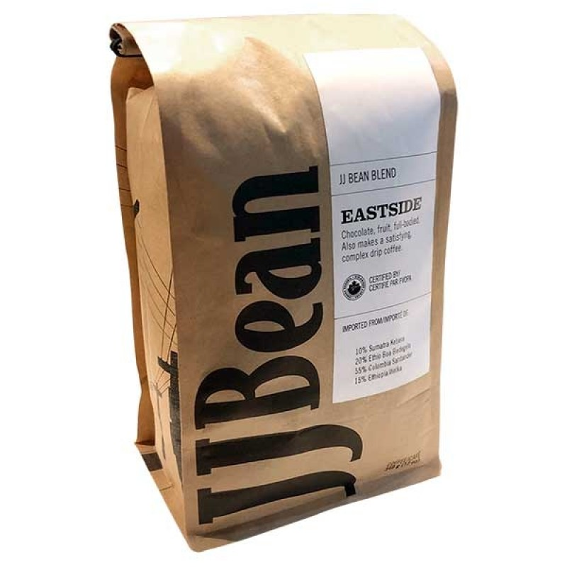 JJ Bean Whole Bean Organic Coffee - Eastside - 908 Grams (2 lb)