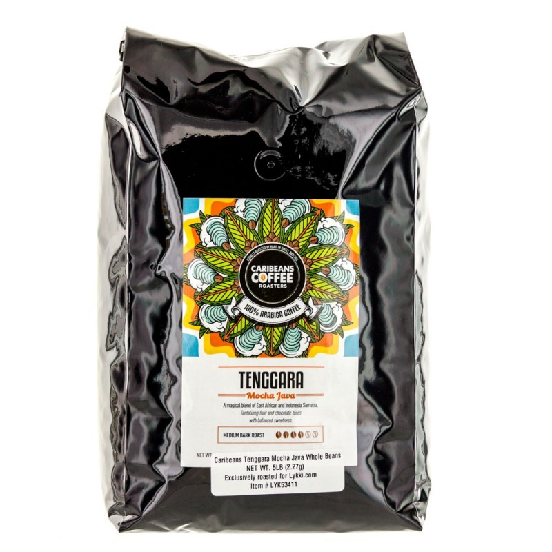 Caribeans Coffee Whole Bean Tenggara Mocha Java - 2.27 Kg (5 lb)