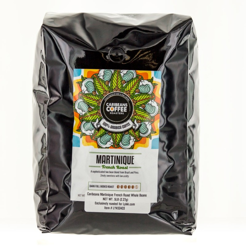 Caribeans Coffee Whole Bean Martinique French Roast - 2.27 Kg (5 lb)