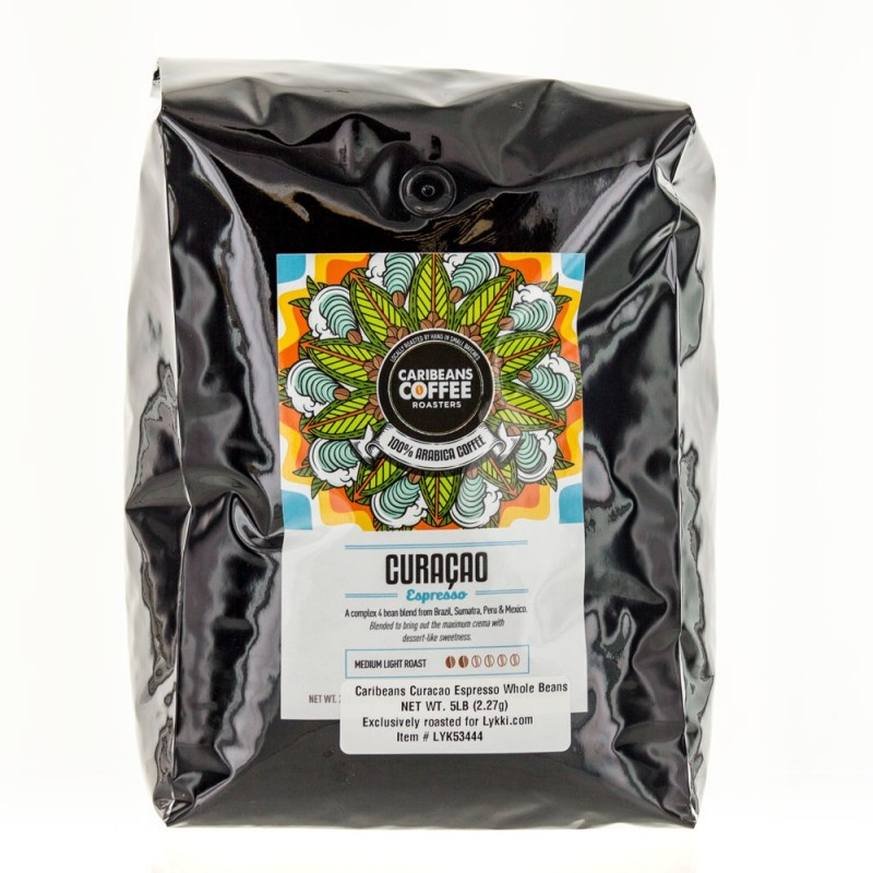 Caribeans Coffee Whole Bean Curaçao Espresso - 2.27 Kg (5 lb)
