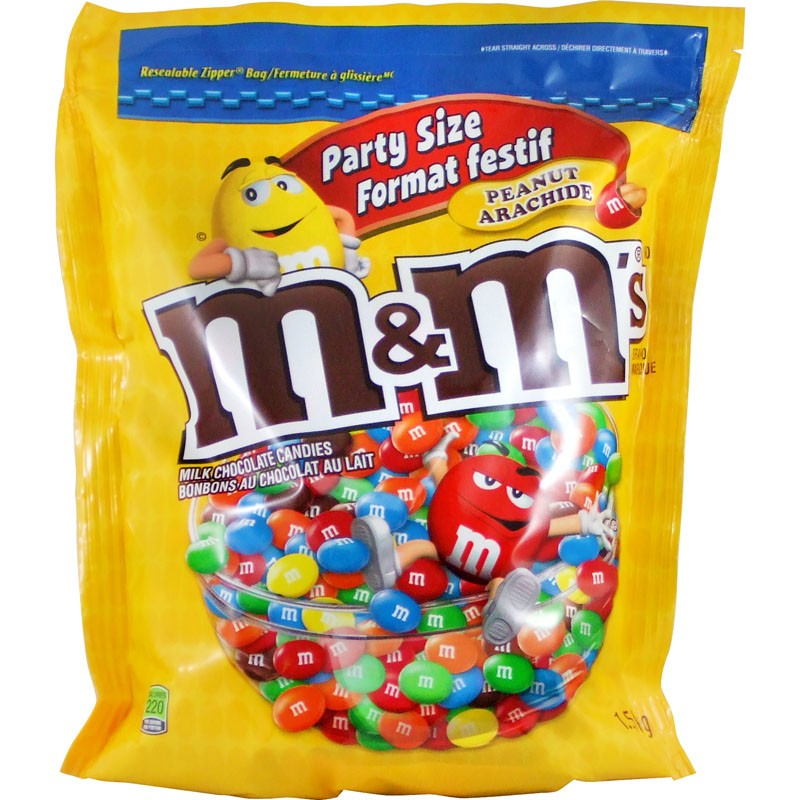 Party Size M&M's Peanut 1.58kg