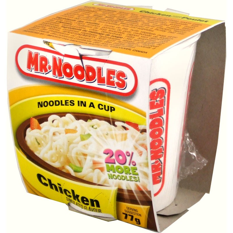 mr noodles noodles in a cup chicken 12pk