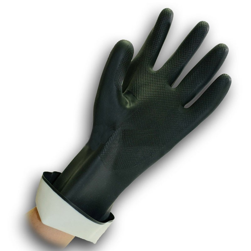 Heavy Duty Flocklined Rubber Gloves 10-Extra Large