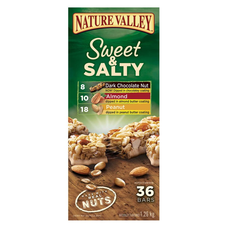 Nature Valley Sweet & Salty Chewy Nut Bars Variety Pack 36pk