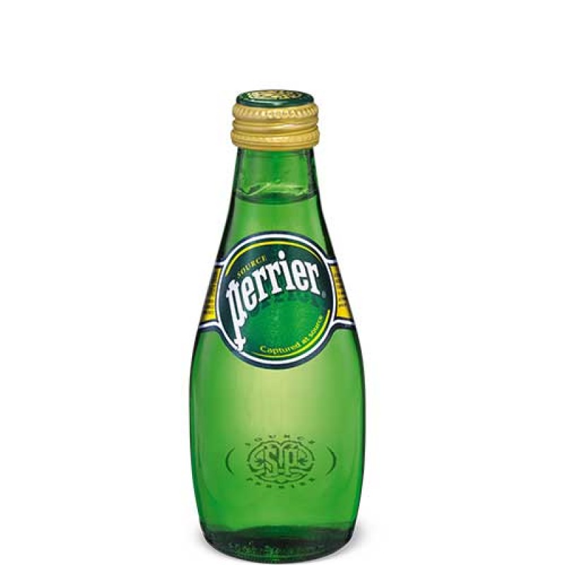 Perrier Sparkling Mineral Water - Small Bottles 24/330mL