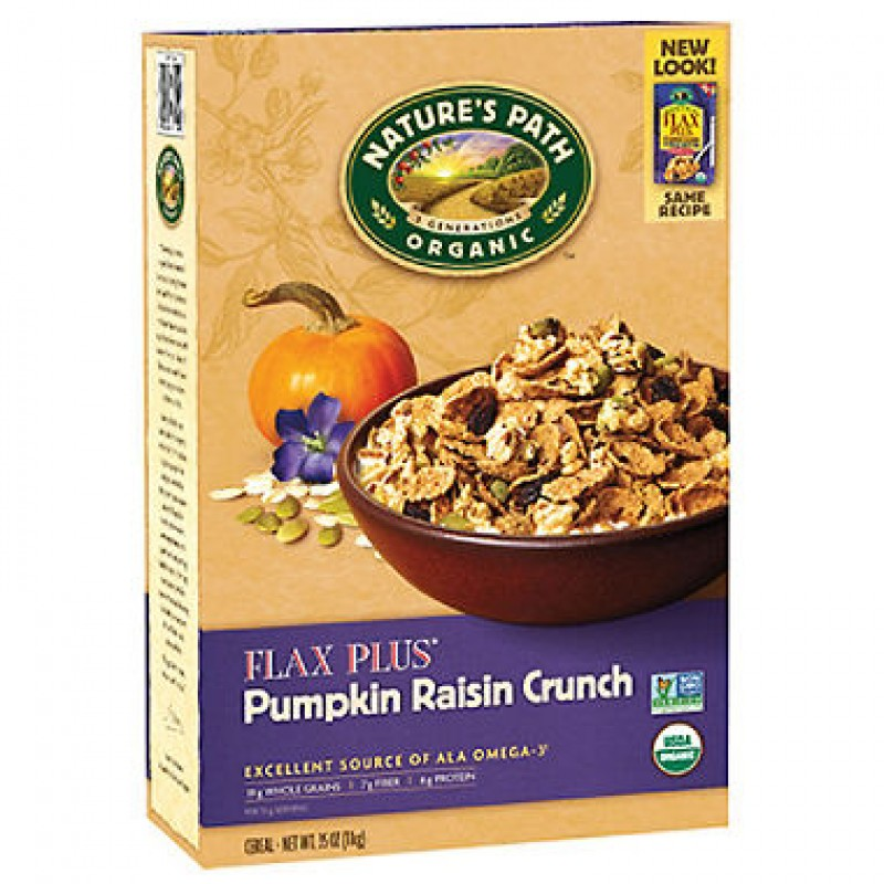 Nature's Path Organic Flax Plus Pumpkin Raisin Crunch Organic Cereal 1kg