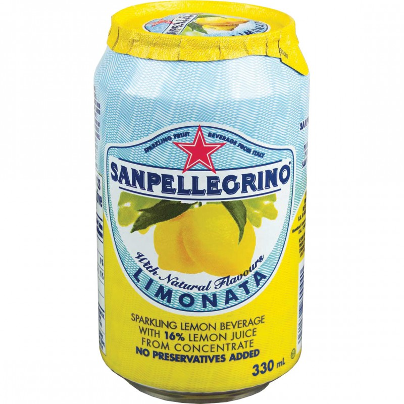 San Pellegrino Limonata Lemon Soda 24/330mL Cans