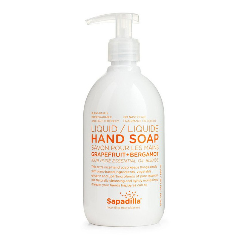 Sapadilla Liquid Hand Soap - Grapefruit & Bergamot -  350 mL