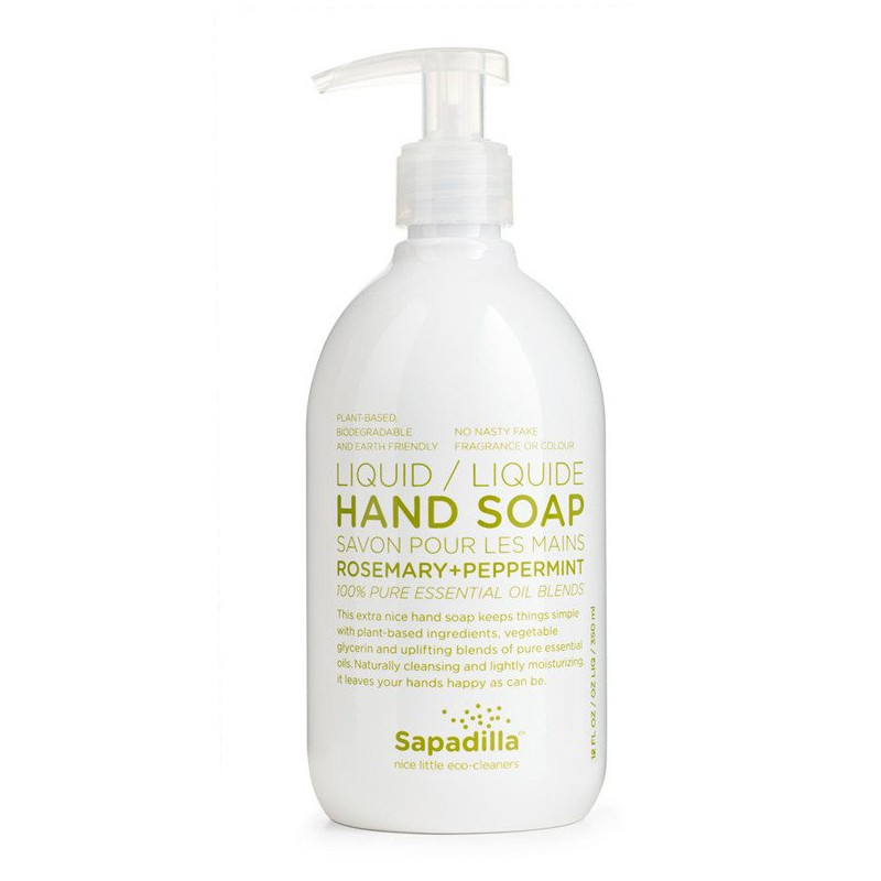 Sapadilla Liquid Hand Soap-  Rosemary & Peppermint - 350 mL