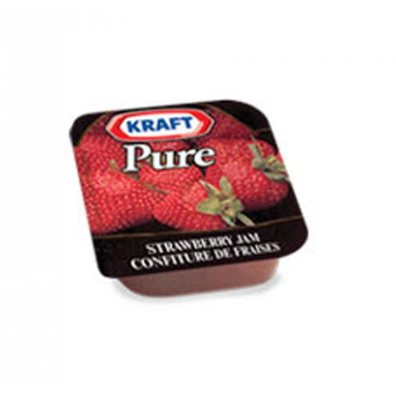 Kraft Pure Strawberry Jam Individual Portion Packs  200 / 16 mL