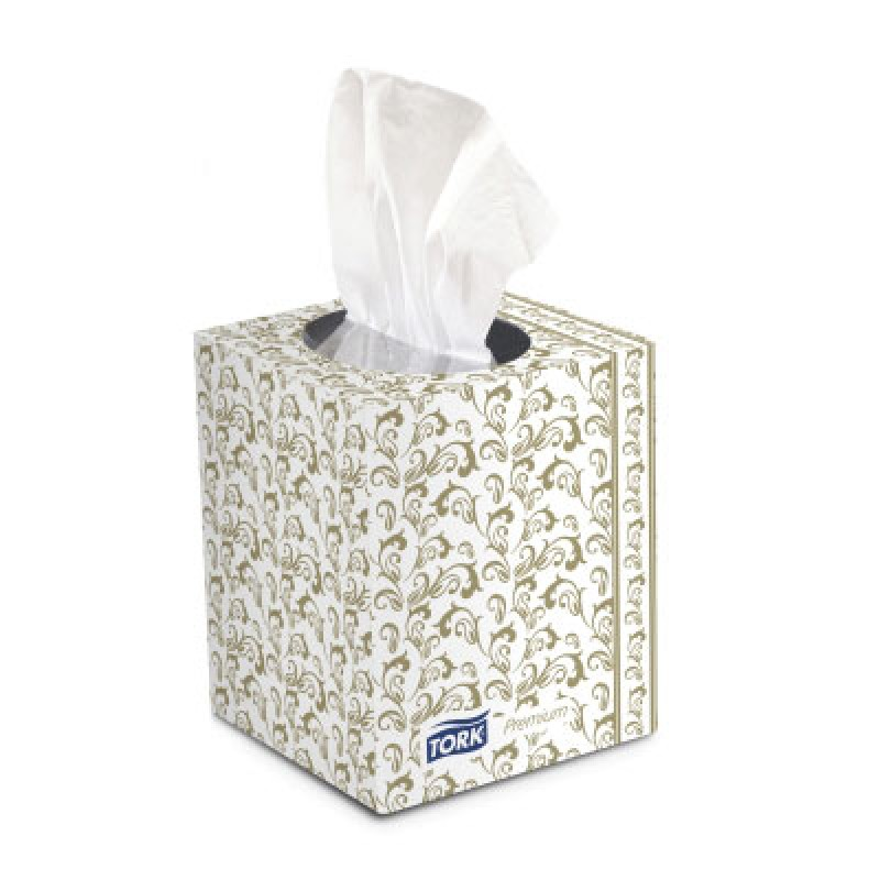 100% Recycled Tork Premium Facial Tissues Cube Box