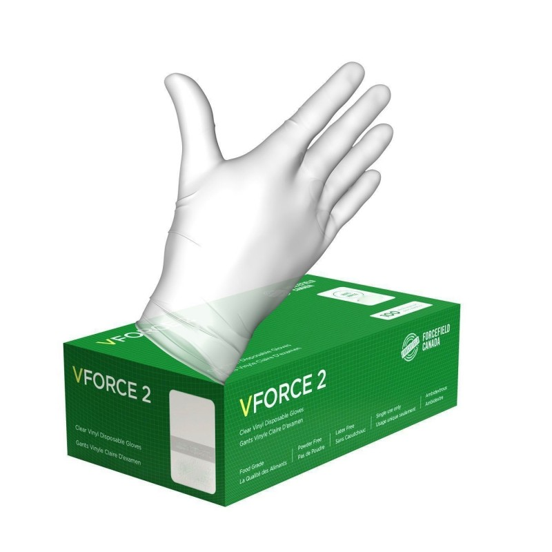 Vinyl Disposable Clear Food Grade Gloves - Large - 100/Pack