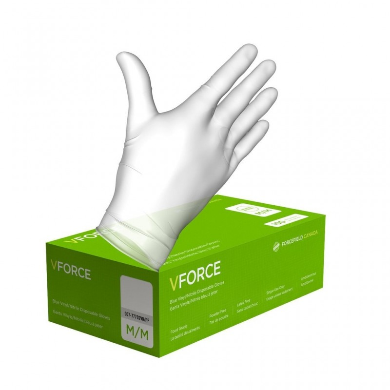 Vinyl Disposable Clear Food Grade Gloves - Medium - 100/Pack