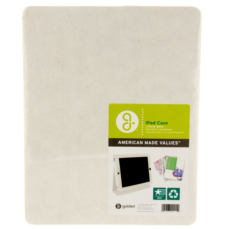 Guided Products Cardboard iPad 2 Cases - White - 3pk