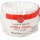 Western Family Basket Coffee Filters - 200/Pack