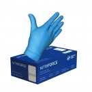 Nitrile Disposable Blue Medical Grade Gloves - Large - 100/Pack