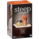 Bigelow Steep Organic Chai Black Tea - 20/Box