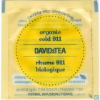 David's Tea Organic Cold 911 - 25/Box
