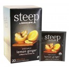 Bigelow Steep Organic Lemon Ginger Herbal Tea - 20/Box