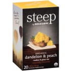 Bigelow Steep Tea Dandelion & Peach Tea - 20/Box