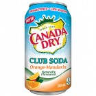 Canada Dry Club Soda Orange-Mandarin 12/355 mL