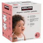 Kirkland Signature Supreme Diapers - Size 4 - 180 Count