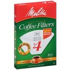 Melitta Pure White #4 Cone Filters - 40 / Pack