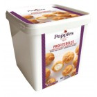 Poppies Mini Cream Puffs - Frozen - 1.25 Kg